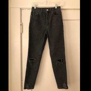 ASOS dark gray high waisted jeans size 26/30